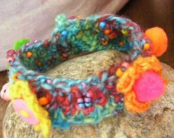 "Colorful textile Bracelet: ""Vamos a la playa!"""