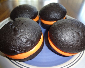Perfect Halloween Homemade Black Velvet Whoopie Pies (1 Dozen)