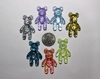 1 piece teddy bear resin flatback