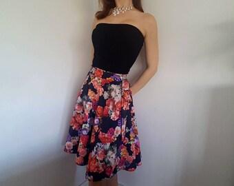 Floral wrap circle skirt
