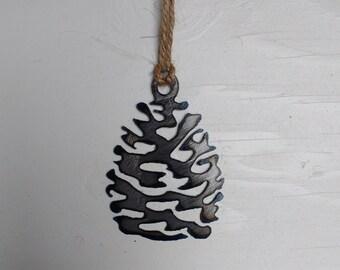 Steel Pine Cone Ornament