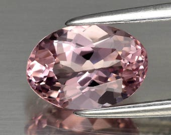 Very Clean! 1.35 ct 8.8 X 6.2 mm Oval Natural unheated Pink Morganite, Madagascar