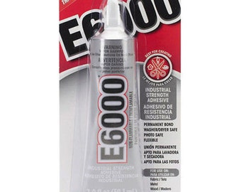 E6000 Industrial Strength Permanent Bond Adhesive Crafting Glue 2 oz. Tube