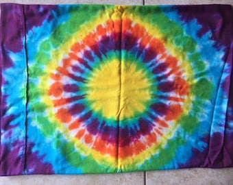 Tie Dye Pillowcase Standard Size | Upcycled