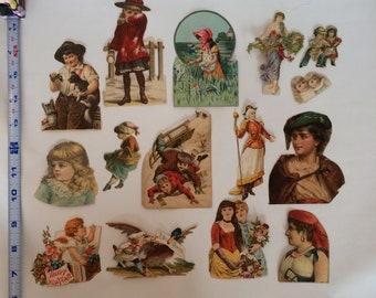 Vintage Victorian Children Ephemera Die Cut Lot
