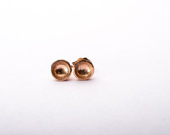 14K Rose Gold Vermeil Darling Bowl Studs- Recycled Sterling Silver