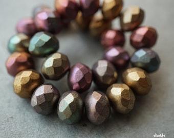 Medley Beauties, Rondelle Beads, Czech Beads, Beads, D59