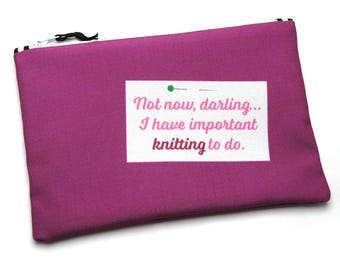 Notions Bag, Knitting Notions, Tool Bag, Not Now Darling