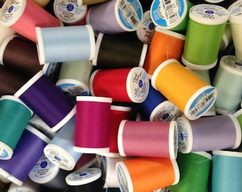Coats + Clark Dual Duty Sewing Thread in Velour Matching Colors for Waldorf Doll Making