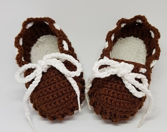 Crochet Shoes Type baby loafers