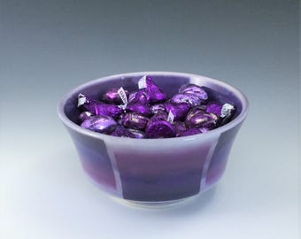 MADE-TO-ORDER, Purple Ceramic Bowl, Soup Bowl, Cereal Bowl, Porcelain Bowl, Purple Candy Dish, Ceramic Soup Bowl, Purple Ombré Pottery Bowl
