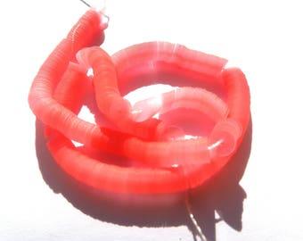 1000 round glitter pink Strawberry perliane satin 4 mm wire