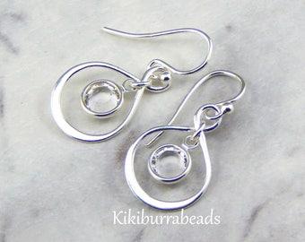 Birthstone Earrings,Personalized Infinity Earrings,April Birthstone Jewelry,Birthday Gift