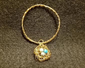 Bird's Nest Bracelet (Robin Eggs)