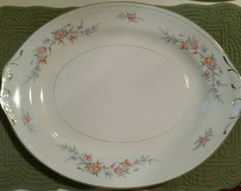 Homer Laughlin  Georgian Eggshell Pattern Oval Platter 13.5""