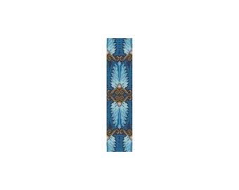 Egyptian Feathers #2 Loom or Peyote Cuff Bracelet Bead Pattern