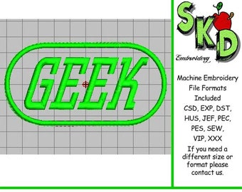 Geek Machine Embroidery Design Applique
