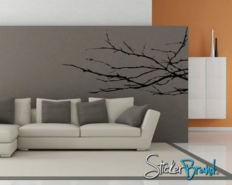 Vinyl Wall Decal Sticker Knobby Plant Tree Branches AC143B