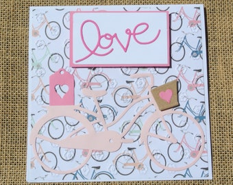French Inspired Bicycle with Love Card