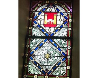 Stained glass wall decoration, fully lined
