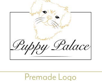 PREmade logo, semicustom logo, custom logo, dog logo, dog graphic, dog  icon