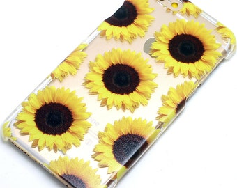 Giant Yellow Sunflower iPhone case, Clear Phone Case, iPhone 6, iPhone 7, iphone 6 Plus, iPhone 7 Plus, iPhone SE, iPhone 8, iphone 8 plus