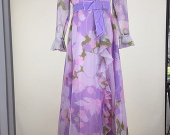 Early 1970s Vintage Floor Length Gown