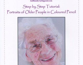 Step by Step Art Tutorial - Portraits of Older People