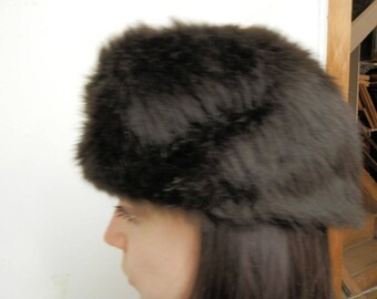 Original 1960s Fur Hat (Synthetic Fur)