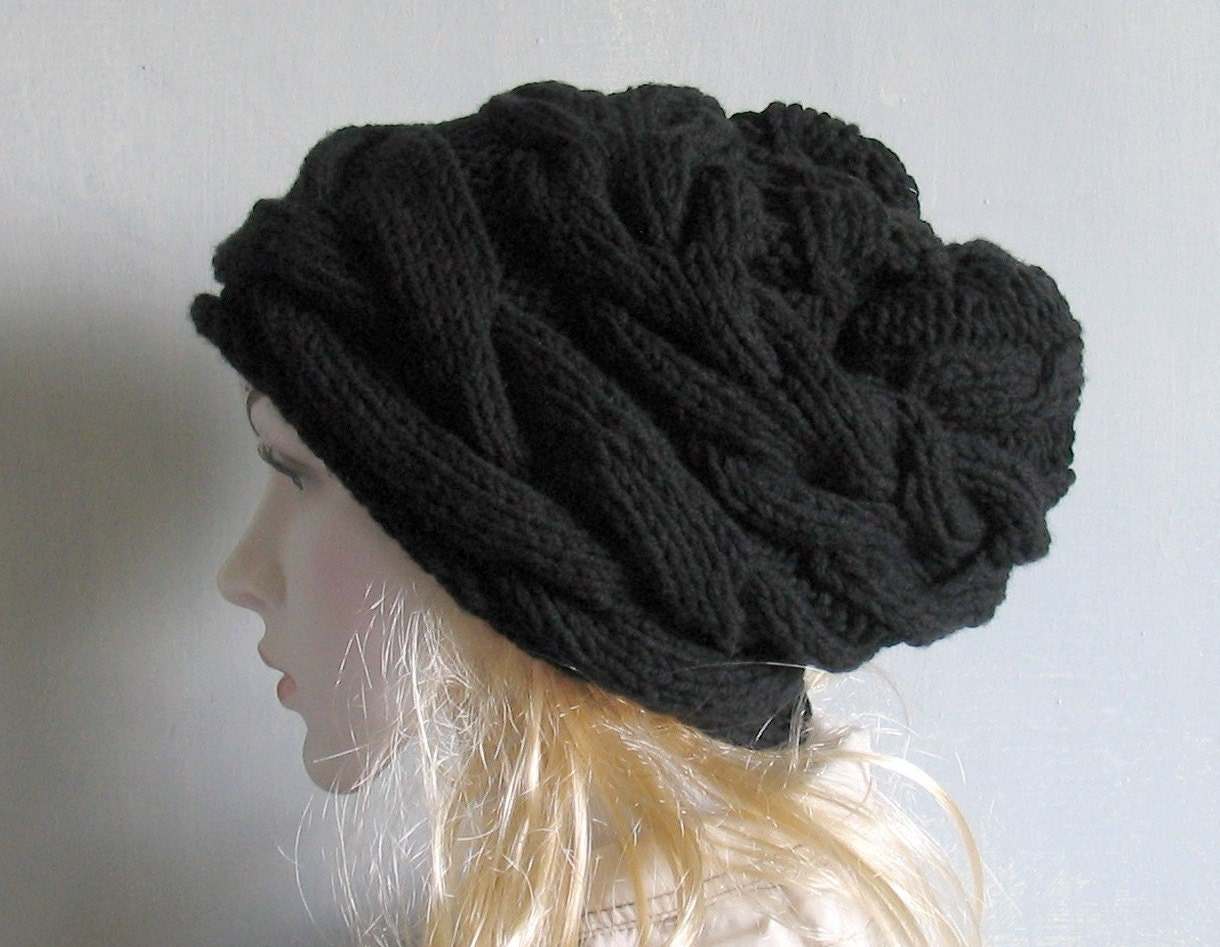 knit hat slouchy women men beanies style hat Slouch Beanie Hat Large knit hat chunky knit hat winter hat Women Knit Hat Chemo Headwear