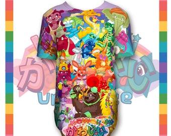 Univers kawaii - mignon animaux incroyable A à Z créateur Tee Shirt unisexe