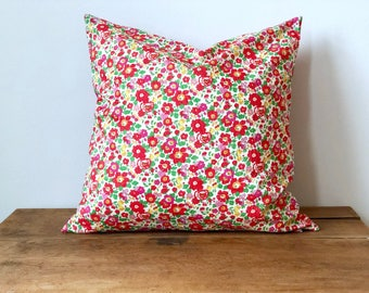 """Pillow Cover with Liberty of London Fabric 16"""" x 16"""""""