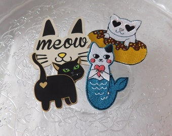 Cat pins, cat lover pins