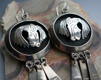 Cuernavca Mexico Sterling Figural Earrings Hallmarked