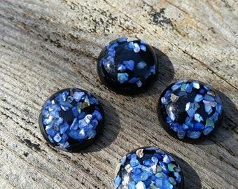 18mm Blue Shell & Resin Cabochon