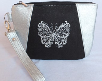 Butterfly Handbag, Mother Gift from Son, Butterfly Lovers,  Butterfly Clutch Bag,  Detachable Strap Purse, Glamorous Stunning Butterfly Bag