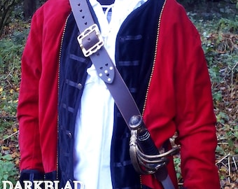 Teach's Baldric, Leather Pirate Sword Baldric for Larp Cosplay and Avasting