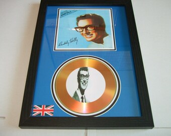buddy holly  minds signed disc display