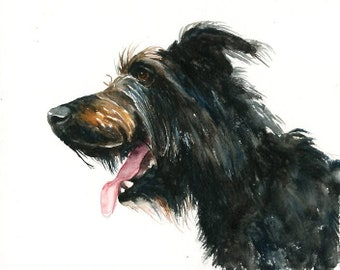 Custom dog portrait Custom pet portrait Custom pet painting Pet portrait custom Original watercolor painting  8x10inch