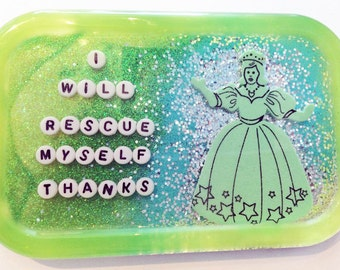 Feminist Art: I Will Rescue Myself, Bathroom Decor, Shower Decor, Feminism, Women's Rights, Feminist Gift, Gift for Her, Gift for Him