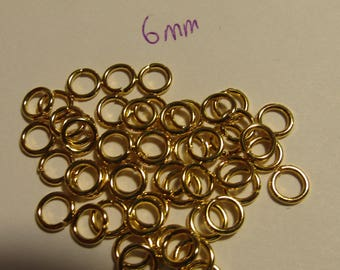 junction rings, gold rings, 6mm rings, jewelry creation, lot of 50 rings