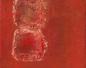 love marriage and partnership,Feng shui abstract print ,red, earth FREE SHIPPING , 12x12 inch (30x30cm),   20x20inch (50x50cm)
