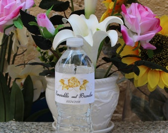 Personalized  Wedding water bottle labels -Custum wedding water bottle labels.