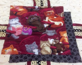 """Lap Quilt, Cat,Lover, """"Scaredy Cats"""","""