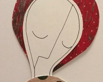 Handmade Christmas Paper Art Doll