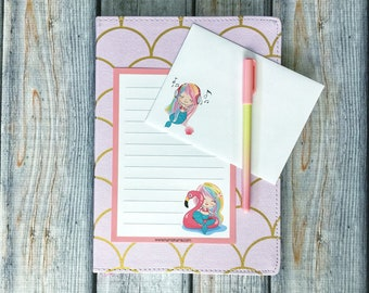 Stationery Set - magical mermaid - letter writing