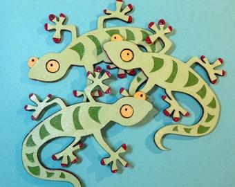 Gecko Christmas tree ornament