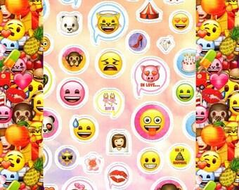 250 EMOJI stickers stickers