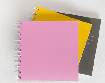 pressed square notebook