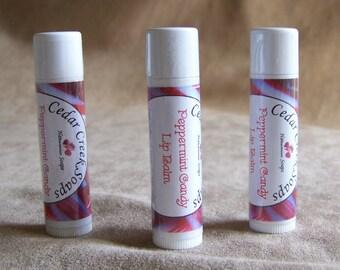 LIP BALM ~ Peppermint Candy Lip Balm ~ Natural Lip Balms